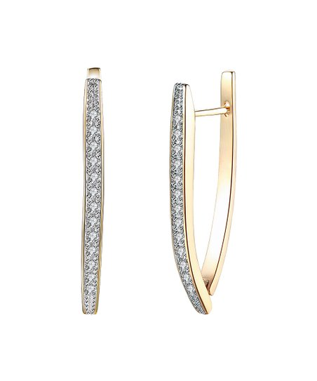 e52713018bc68 Golden NYC 18k Gold-Plated Channel-Set Hoop Earrings With Swarovski®  Crystals