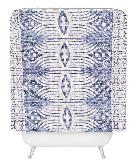 Deny Designs Holli Zollinger French Linen Geometric Ikat Shower