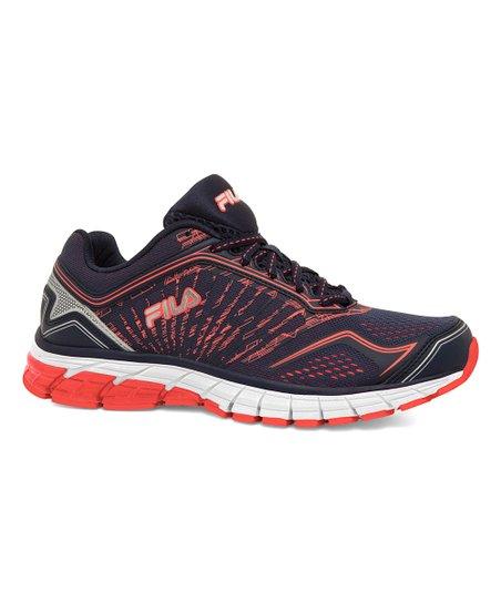 FILA Navy & Metallic Silver Aspect 4 Energized Running Shoe