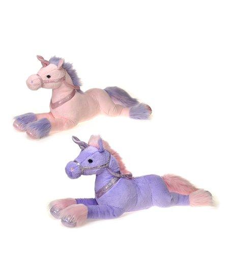 Fiesta Toy Pink Purple Unicorn Plush Toy Zulily