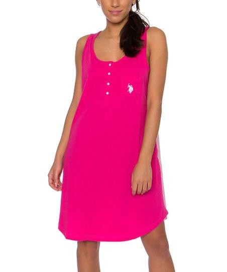 U S Polo Assn Pink Paradise Sleeveless Chemise Zulily