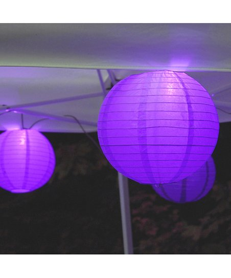 Love This Product Purple Paper Lantern Electric String Light Set Of 10