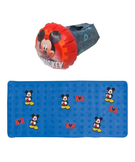 Peachy Ginsey Mickey Mouse Blue Bath Mat Red Inflatable Faucet Cover Download Free Architecture Designs Scobabritishbridgeorg