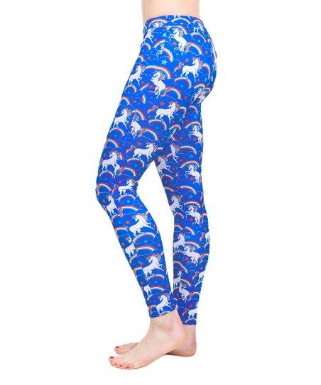 236a809a12 Tipsy Elves Blue Majestic Unicorn Leggings