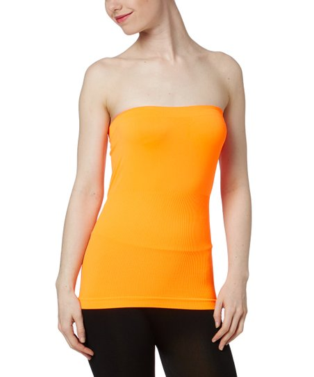 606bd53b0c love this product Neon Orange Seamless Tube Top