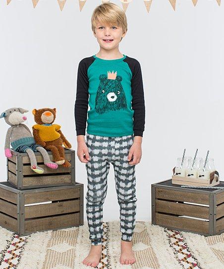b8ceaa407 PpippiLong Green Kings Bear Pajama Set - Toddler & Boys | Zulily