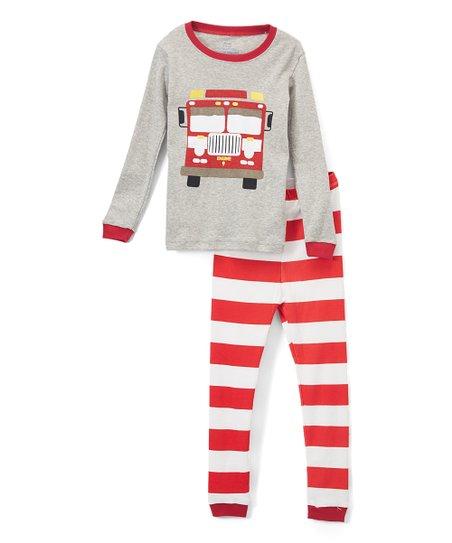574a93f38 Elowel Red Fire Truck Pajama Set - Toddler   Boys