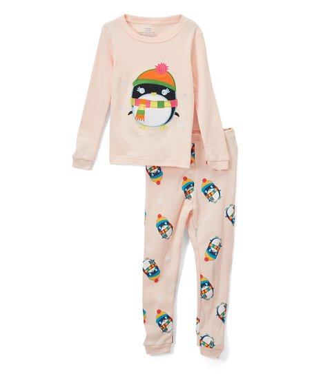 079895cae619 Elowel Pink Penguin Pajama Set