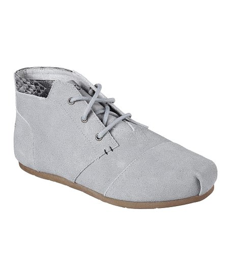 bafccfc81a9b BOBS from Skechers Gray Luxe Rustic Sole Suede Bootie