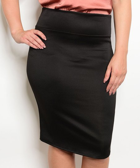 9a471a5015 love this product Black Slit-Back Pencil Skirt - Plus