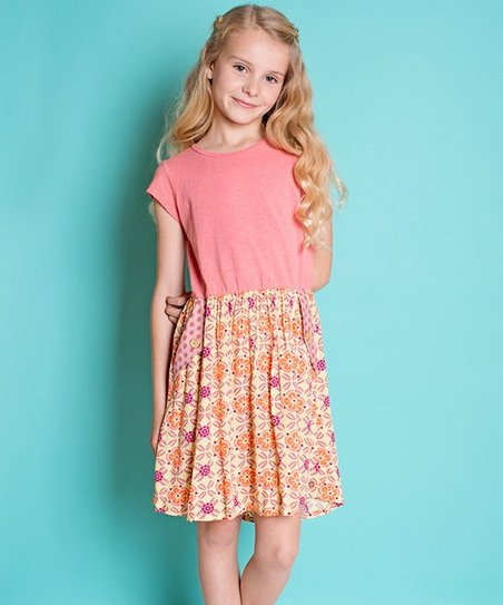 f5a8f892945 Matilda Jane Clothing Pink Candied Apple A-Line Dress - Girls