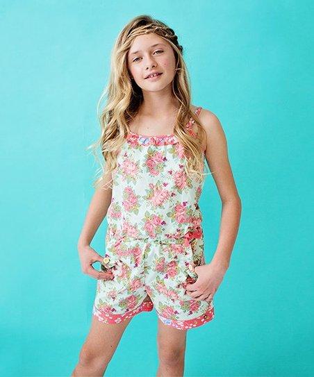 bd43cab5a Matilda Jane Clothing Pink Floral Backyard BBQ Romper - Girls | Zulily