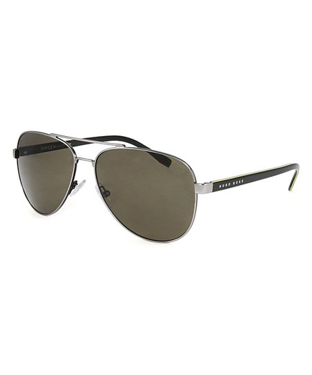 318dbc7c42 love this product Matte Ruthenium Khaki   Brown Polarized Aviator Sunglasses