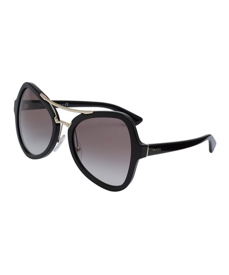 6e2c8ba124d Prada Black Dual-Bridge Oversize Sunglasses