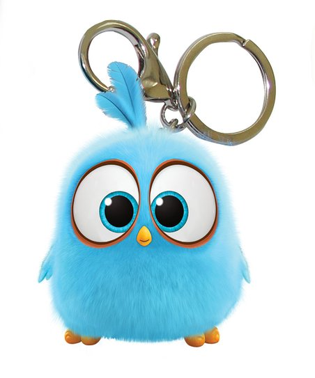 Inkology Angry Birds Blue Hatchling Key Chain