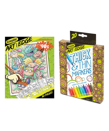 Crayola Nickelodeon Art With Edge 90s Coloring Pages 20 Ct Markers Best Price And Reviews Zulily