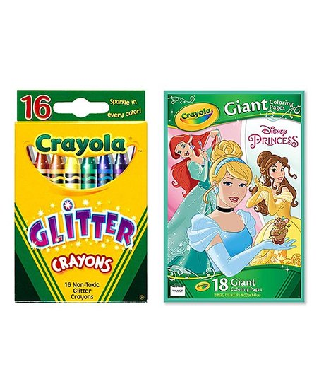 Crayola Disney Princess Giant Coloring Pages 16 Ct Glitter Crayon