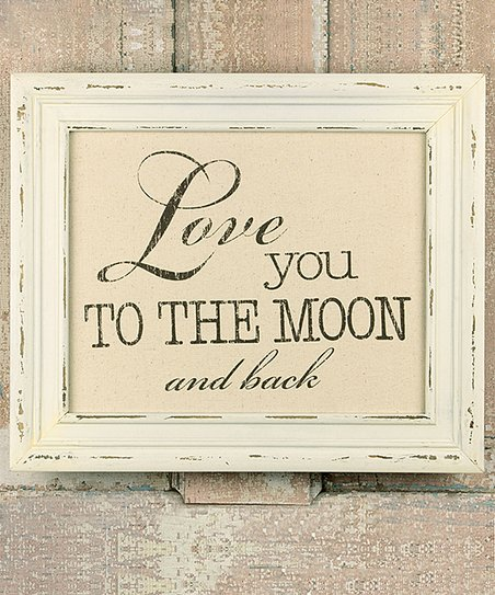 Honey And Me Love You To The Moon Back Frame Zulily
