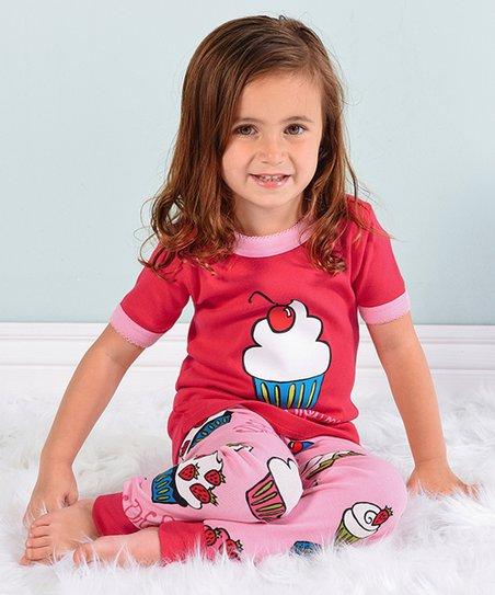cd70e7046 love this product Pink   Red  Sweet Dreams  Cupcake Pajama Set - Toddler    Girls