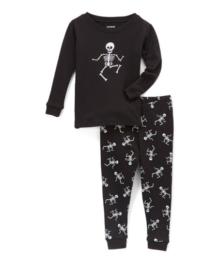 310d2b257b49 Leveret Black Skeleton Pajama Set - Infant