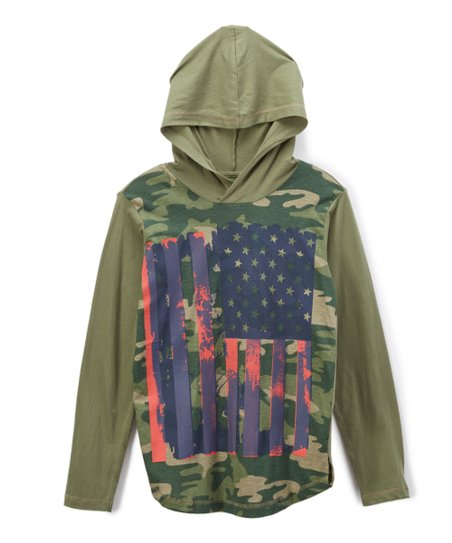 love this product Olive Camo American Flag Hoodie - Boys 5775fedb71a