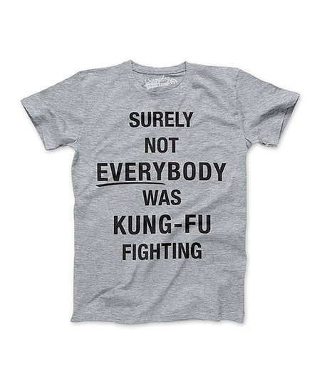 bc513af5c Crazy Dog Heather Gray Not Everybody Was Kung Fu Fighting Tee - Boys ...