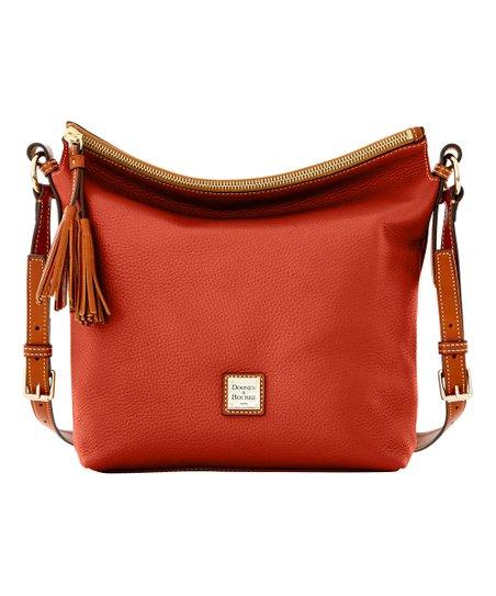 9e8011c5542f Dooney   Bourke Burnt Orange Small Dixon Leather Crossbody Bag