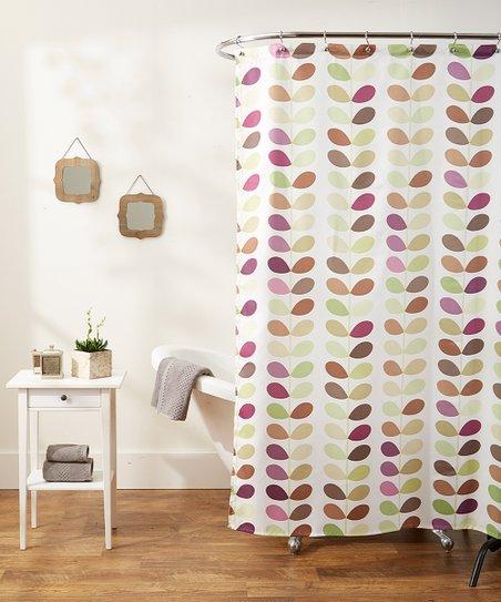 Green Mosaic Shower Curtain