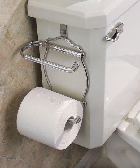 Idesign Chrome York Lyra Over Tank Toilet Paper Holder Zulily