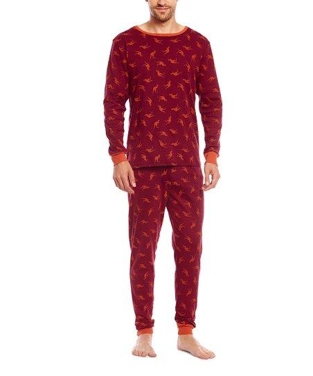 c832bb69f71e love this product Maroon Kangaroo Pajama Set - Men