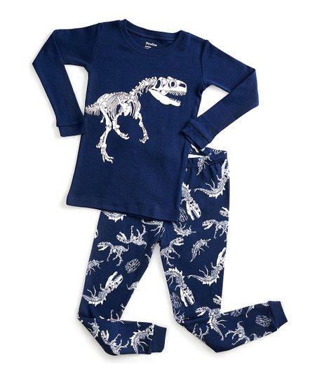 c9a20d236 DinoDee Black   White Dinosaur Pajama Set - Toddler   Kids - Toddler ...