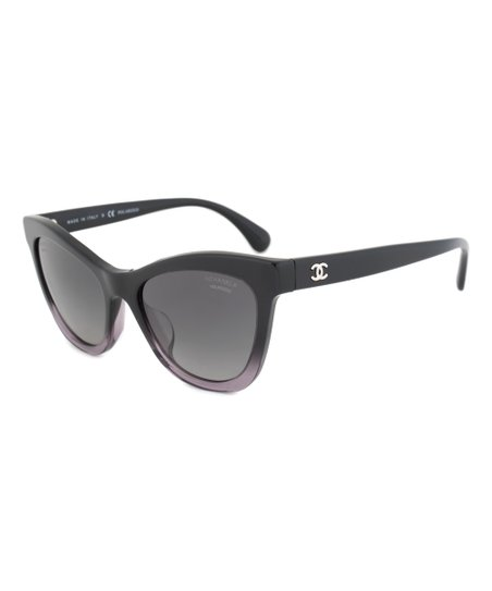 3f8e49b67a Chanel Black   Gray Gradient Cat-Eye Summer Sunglasses