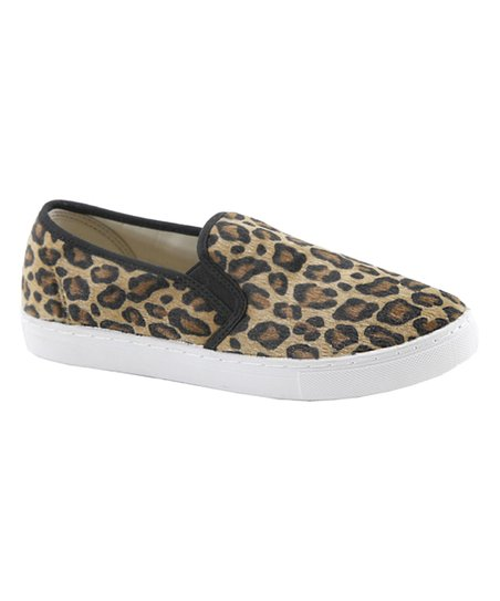 ec8ed903908e Anna Brown Leopard Slick Slip-On Sneaker - Women | Zulily