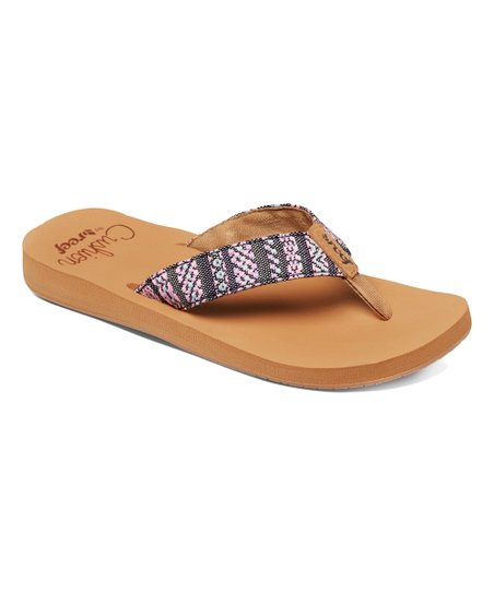 456cb2e54 Reef Black Pink Cushion Threads TX Flip-Flop - Women