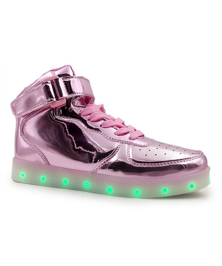 pretty nice 49abf a3efc love this product Rose Gold Light-Up Hi-Top Sneaker - Women