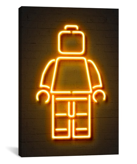 iCanvas Octavian Mielu Neon Luminosity Series: Minifig Wrapped Canvas