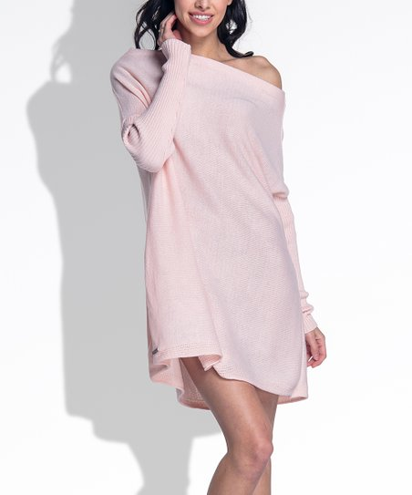 9b7ad7f94f90 love this product Pink Powder Off-Shoulder Tunic Dress
