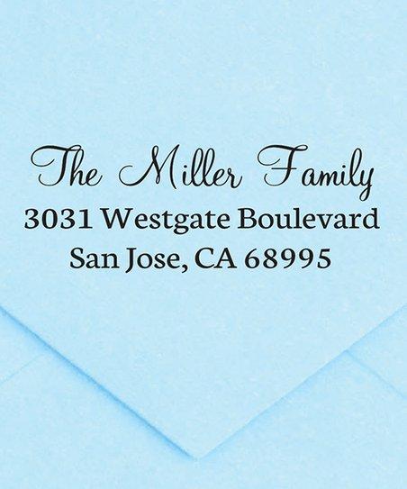 The Stamp Company Black Elegant Personalized Address Stamp