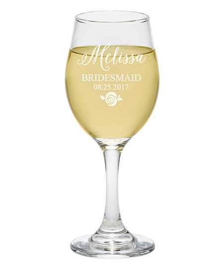 Personalized Planet Wedding Party Personalized Wine Glass Zulily