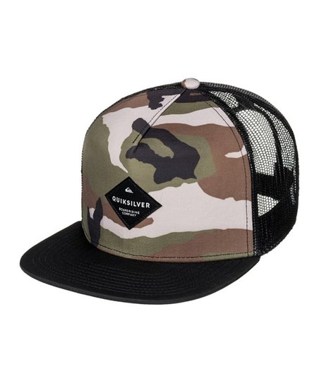 Quiksilver Camo Brillings Trucker Hat - Boys  e3cf1ce11d5