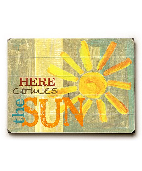Artehouse Here Comes The Sun Wood Wall Art Zulily