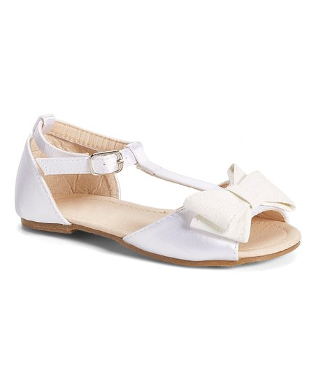 25b152f99a870 love this product White Bow T-Strap Sandal - Girls