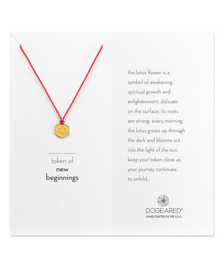 Dogeared Gold Token Of New Beginnings Lotus Pendant Necklace Zulily