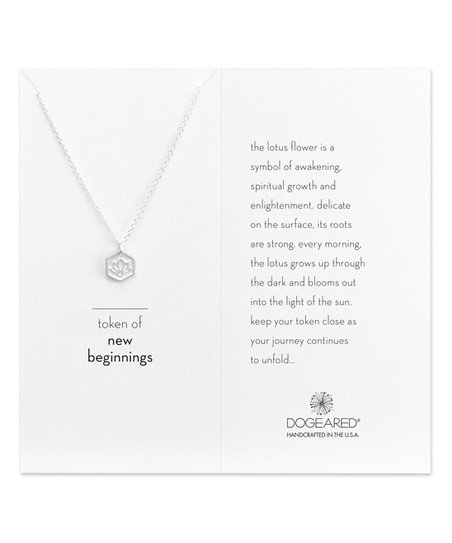 Dogeared Sterling Silver Token Of New Beginnings Lotus Pendant