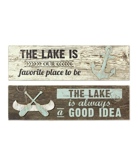 Wood The Lake Wall Art Set Of 2