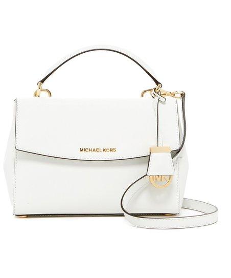 ecfd58e45d8e Michael Kors Optic White Ava Small Saffiano Leather Satchel | Zulily