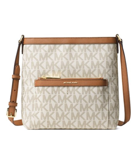 fa822e50aa0c Michael Kors Vanilla Signature Morgan Crossbody Bag | Zulily