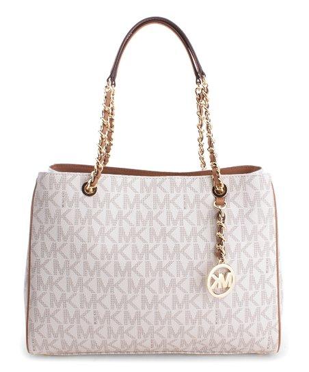 84ec7ea7499f love this product Vanilla & Acorn Signature Saffiano Leather Susannah  Shoulder Bag