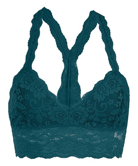 c3bd78e7722 love this product Teal Floral Lace Racerback Bralette