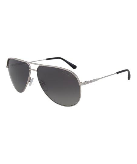 5528bba899759 love this product Silver   Gray Erin Polarized Aviator Sunglasses
